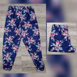 Antthony | floral jogger pants | large